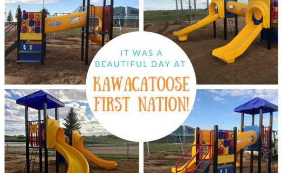 thank you Kawacatoose First Nation for letting us install your new playground!