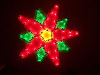 large holiday poinsettia light fixture