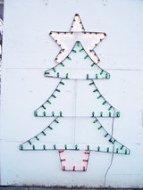 Image of Christmas Tree Light with white background